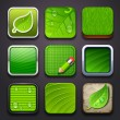 Background for the app icons - eco part - Imagens vectoriais em stock