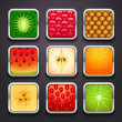 Background for the app icons-fruits part — Stock Vector #18565097