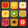 Stock Vector: Background for app icons-fruits