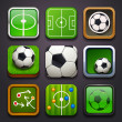 Stock Vector: Background for app icons-soccer part