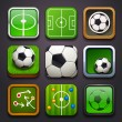 Stock Vector: Background for the app icons-soccer part