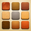Wood background for the app icons — Stock Vector