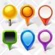 Map markers — Vector de stock #18565451