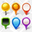Map markers — Stockvektor #18565451