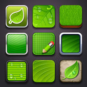 Background for the app icons - eco part — Stock Vector