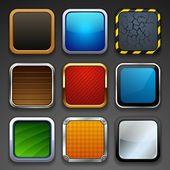 App buttons — Stock Vector