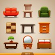 Royalty-Free Stock Imagem Vetorial: Furniture icons-set 1