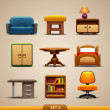 Furniture icons-set 2 - Stok Vektör