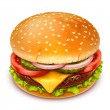 Hamburger icon — Stock Vector #20214545