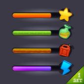 Game resource bar-set 1 — Stock Vector