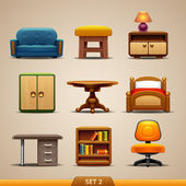 Furniture icons-set 2 — Stock Vector