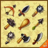 Weapon icons-set 2 — Vettoriale Stock