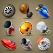 Car parts and services icons — Imagen vectorial
