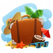 Travel suitcase icon — Imagen vectorial