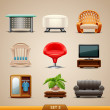 Furniture icons-set 3 — Stock Vector #25146239