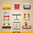 Furniture icons-set 6 — Stock Vector #25146241