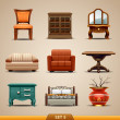 Furniture icons-set 5 — Stockvektor #25146245