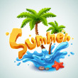 Summer illustration — Imagen vectorial