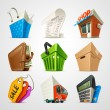 Shopping icon set — Vector de stock #25146609