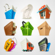 Shopping icon set — Vettoriale Stock #25146609