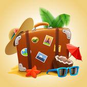 Vector travel Suitcase — Stock Vector