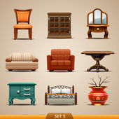 Furniture icons-set 5 — Stock Vector