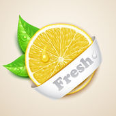 Fresh lemon — Stock Vector