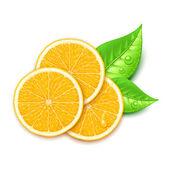 オレンジ スライス — ストックベクタ