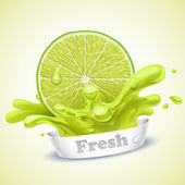 Juicy lime — Stock Vector