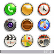 Round button icons-set 2 — 图库矢量图片
