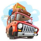 Vector travel car — Stock Vector