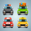 Vector car icon set — Stock Vector