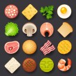 Food icon set — Stock Vector #27673097
