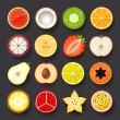 Fruit icon set — Stock Vector #27673099