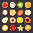 Stock Vector: Fruit icon set