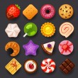 Stock Vector: Dessert icon set