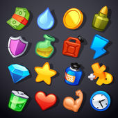 Game resources icons — Stockvector