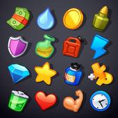 Spel resurser ikoner — Stockvektor