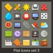 vector icon set plat 3 — Vecteur