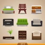icone mobili — Vettoriale Stock
