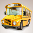 Stock Vector: School bus vector illustration