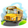 Funny school bus illustration — Stock Vector #30194411