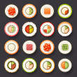 Sushi icon set — Stock Vector #36409783