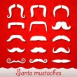 Santa mustaches — Stock Vector