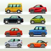 Jeu d'icônes de voiture — Vecteur