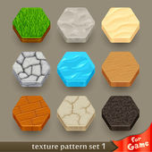 Ground texture patterns for game — Stock Vector