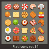 Vector flat icon-set 14 — Stock Vector