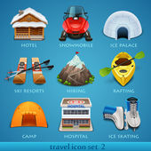 Travel icon set — Stock Vector