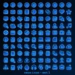 Blue line web icon — Stock Vector #42919269