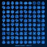 Blue line web icon — Stock Vector #42919447